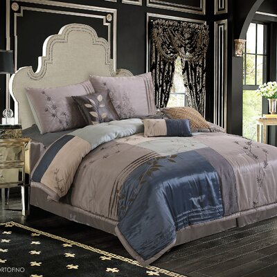 Back to Nature 7 Piece Complete Comforter Set Size: King, Color: Blue
