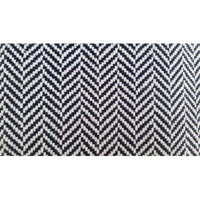 Belfast Herringbone Throw Blanket Color: Navy