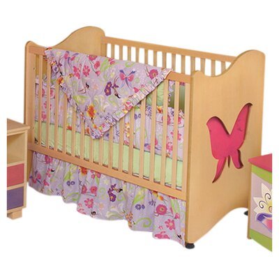 Magic Garden Butterfly 2-in-1 Convertible Crib Finish: Natural RM22-MG