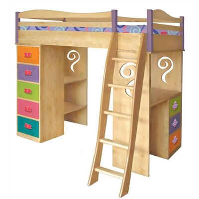 Financing for Little Girl Tea Set Twin Loft Bed w...