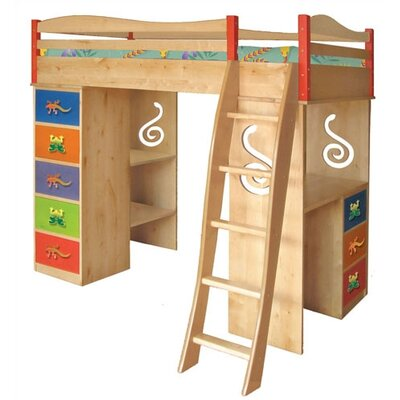 No credit financing Little Lizards Twin Loft Bed with D...