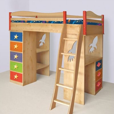 In store financing Star Rocket Twin Loft Bed with Desk...