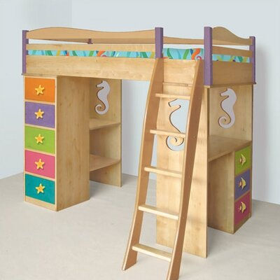Credit for Tropical Seas Twin Loft Bed with De...