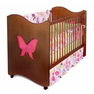 Magic Garden Butterfly 2-in-1 Convertible Crib Finish: Chocolate RM22-MGD