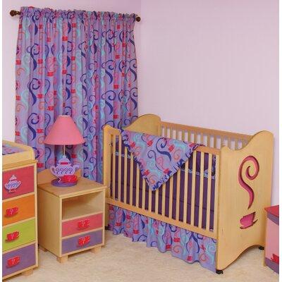 Little Girl Tea Set 2-in-1 Convertible Crib Finish: Chocolate RM22-GTD
