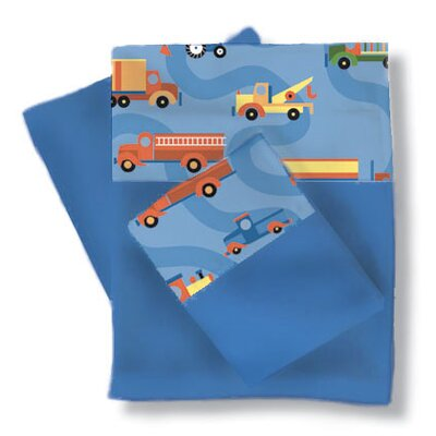 Boys Like Trucks Sheets / Pillowcase Set Size: Full