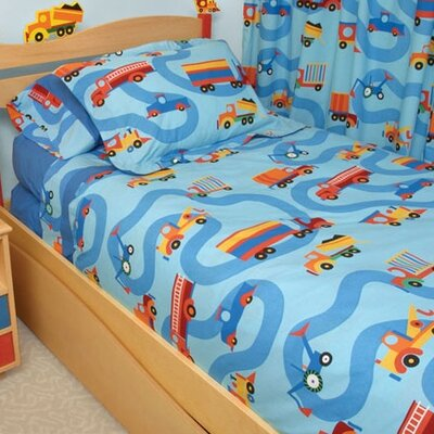 Boys Like Trucks 4 Piece Full/Double Duvet Cover Set