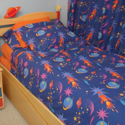 Star Rocket 4 Piece Twin Comforter Set