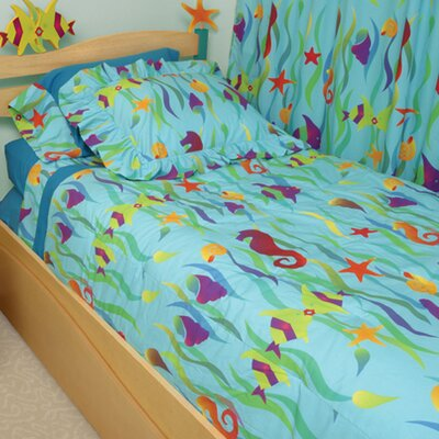 Tropical Seas 4 Piece Full/Double Duvet Cover Set