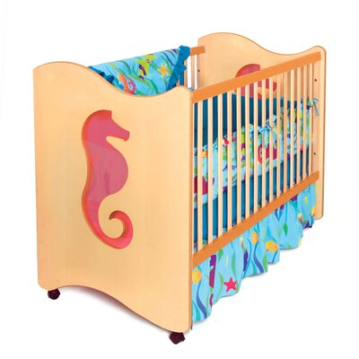 Tropical Seahorse Crib / Toddler Bed in Chocolate RM22-TSD