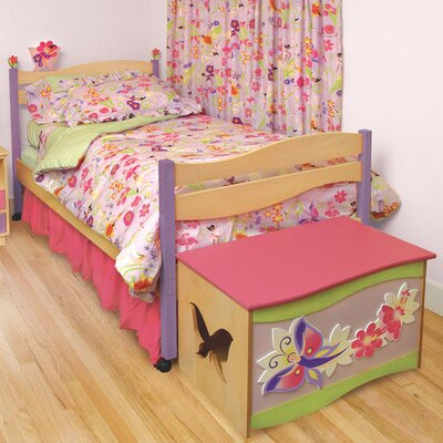 Cheap Magic Garden Twin Bed Finish: Natural (ROM1244_7030471)