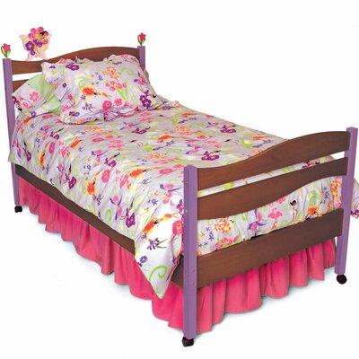 Cheap Magic Garden Twin Bed Finish: Chocolate (ROM1244_7030468)