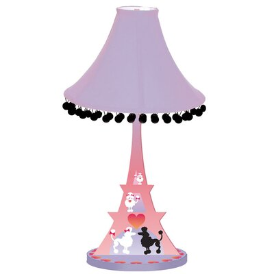 Poodles in Paris Eiffel Tower Lamp