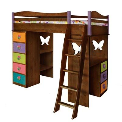 Lease to own Magic Garden Twin Loft Bed with Des...