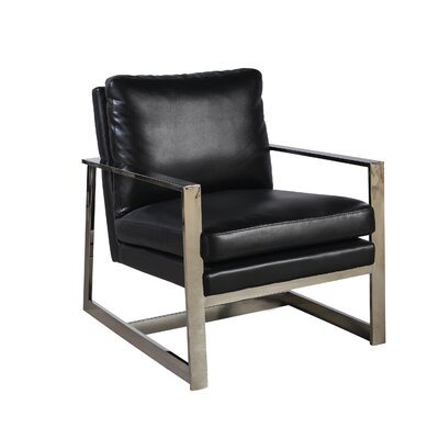 Christopher Armchair Upholstery: Black Leatherette
