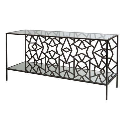Cracked Ice Console Table Finish: Leaded Dark Bronze