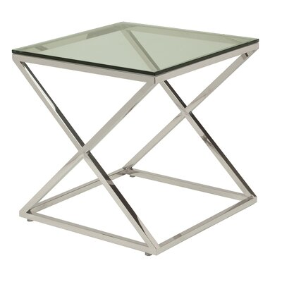 Excel End Table Glass Color: Clear