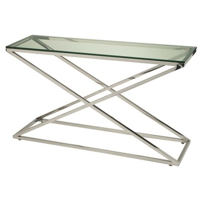 Excel Rectangle Console Table Glass Color: Clear