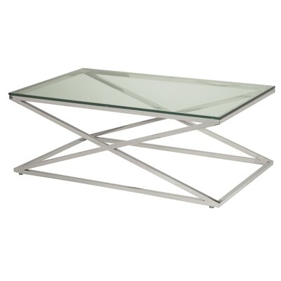 Excel Coffee Table Color: Clear Glass