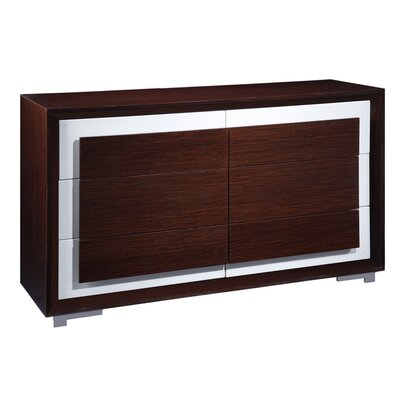 Cj 6 Drawer Double Dresser
