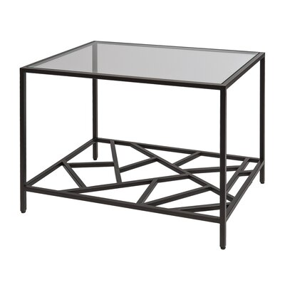 Cracked Ice End Table Color: Leaded Dark Bronze