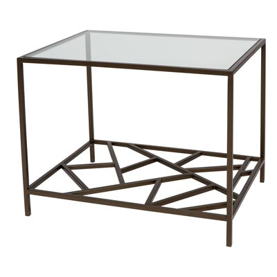 Cracked Ice End Table Finish: Gilt Medium Bronze