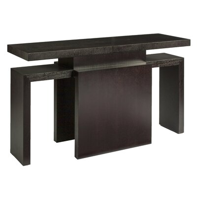 Sebring Rectangular Console Table Finish: Mocha on Oak