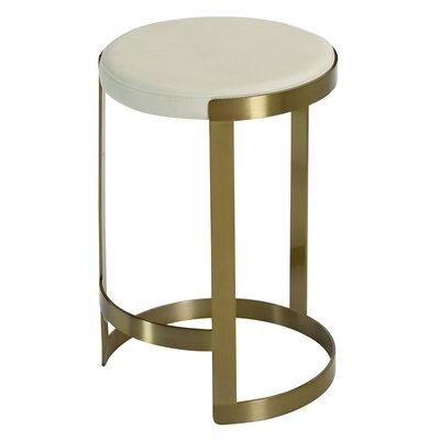 Caroline 24 Bar Stool Upholstery: Ivory White