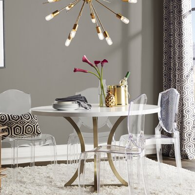 Iris Dining Table Finish: Chalk White