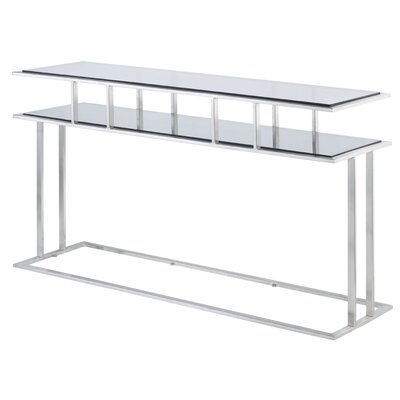 Mirage Rectangle Console Table Glass Color: Clear
