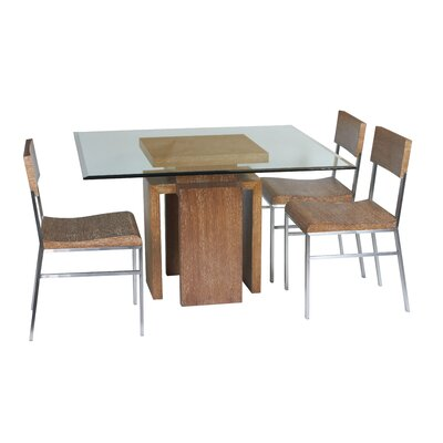 Sebring Dining Table Finish White Limed Cognac
