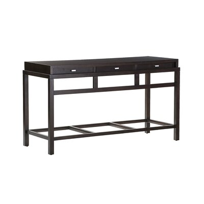 Spats Rectangular Console Table Top Finish: Espresso