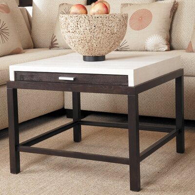Spats End Table Finish: White