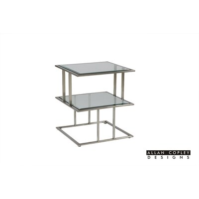Mirage End Table Glass Color: Clear