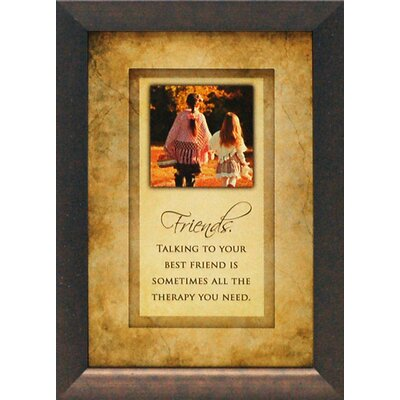 ARTISTIC REFLECTIONS Friends. Talking to your best friend is sometimes Framed Graphic Art at Sears.com