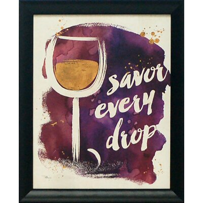 'Watercolor Wine I' Framed Graphic Art Print