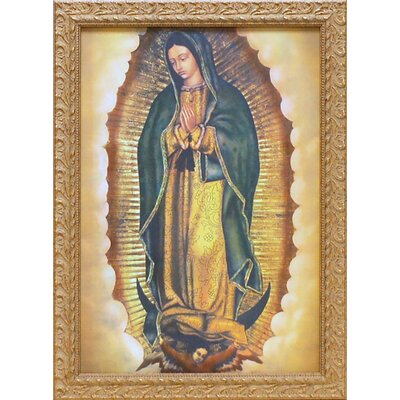 'Our Lady of Guadalupe' Framed Graphic Art Print on Wood
