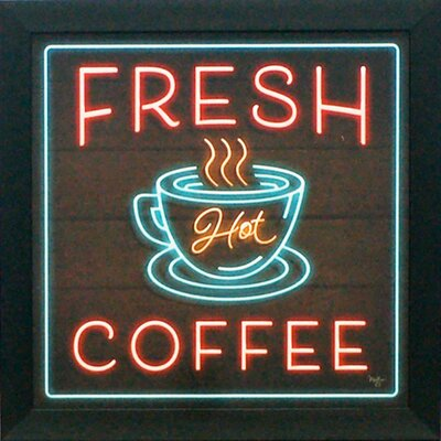 'Fresh Coffee' Framed Graphic Art Print