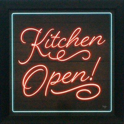 'Kitchen Open' Framed Textual Art