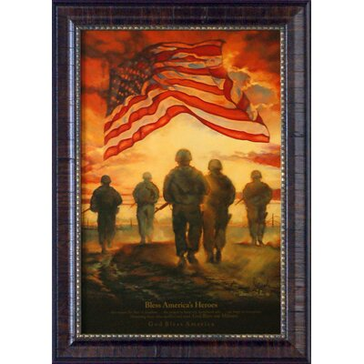 Bless America's Heroes by Bonnie Mohr Framed Graphic Art P315