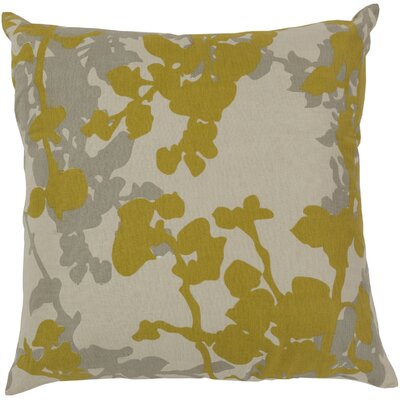 Jef Designs Floral Cotton Throw Pillow Size: 22, Filler: Polyester