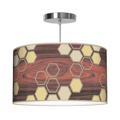 Organic Modern Hex Pendant Shade Color: Cream, Size: 11 H x 24 W x 24 D