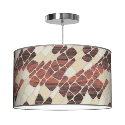 Organic Modern Cell Pendant Shade Color: Cream, Size: 9 H x 16 W x 16 D