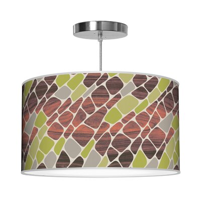 Organic Modern Cell Pendant Shade Color: Green, Size: 12 H x 30 W x 30 D