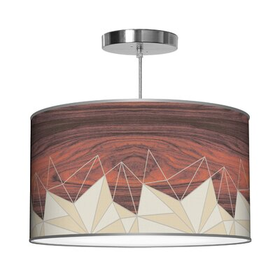 Organic Modern Facet Pendant Shade Color: Cream, Size: 9 H x 16 W x 16 D