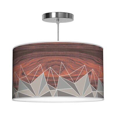 Organic Modern Facet Pendant Shade Color: Grey, Size: 12 H x 36 W x 36 D