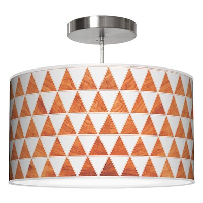 Triagnle Drum Pendant Shade Color: Mahogany, Size: 9 H x 16 W x 16 D