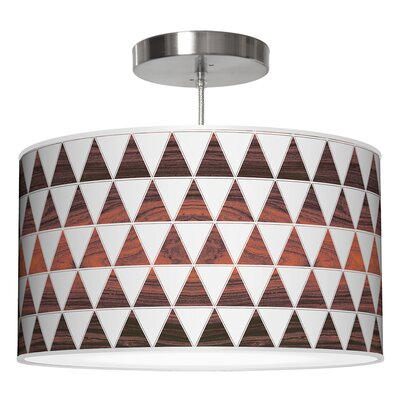 Triagnle Drum Pendant Shade Color: Rosewood, Size: 11 H x 24 W x 24 D