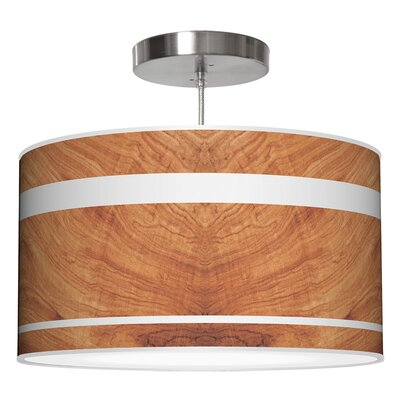 Band Drum Pendant Shade Color: Mahogany, Size: 11 H x 24 W x 24 D