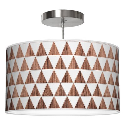 Triagnle Drum Pendant Shade Color: Walnut, Size: 12 H x 30 W x 30 D